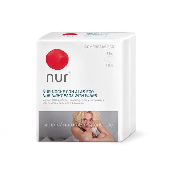 Nur night panty liner with wings