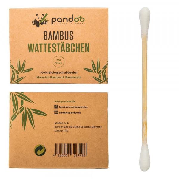 Bambusz fültisztító pálcikák organikus pamut ...