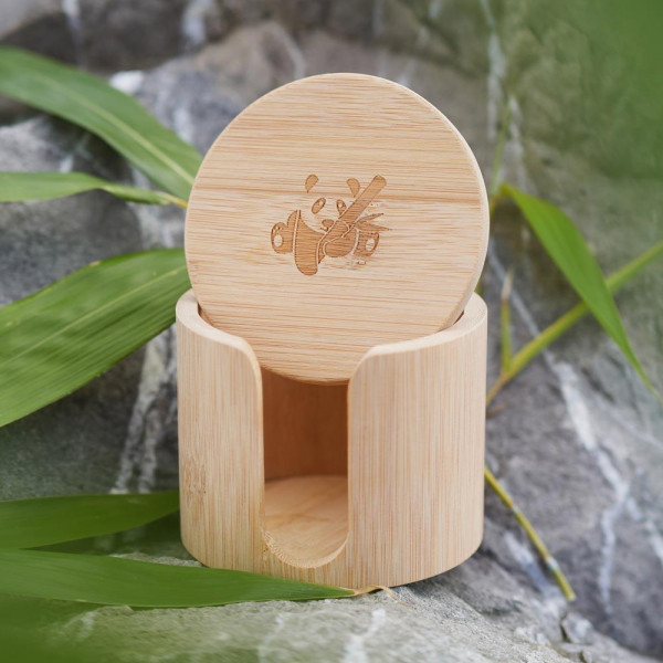 Bamboo box for cotton pads