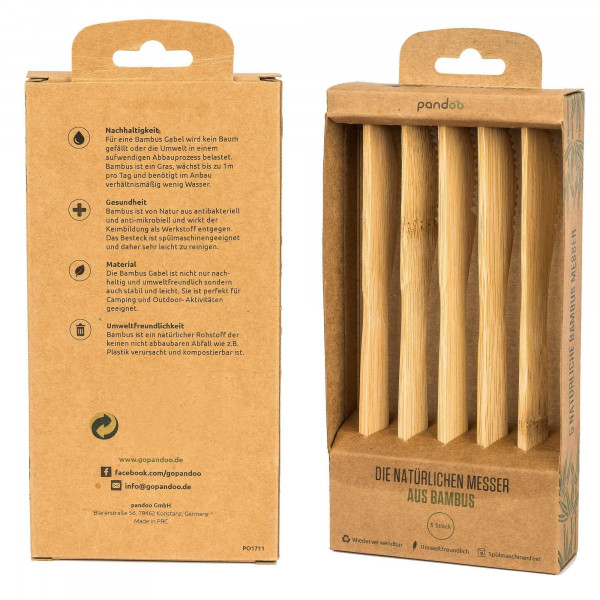 Bamboo knives 5 pcs