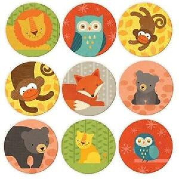 Memory game, forest animals