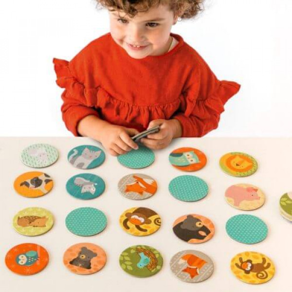 Memory game, animals and babies