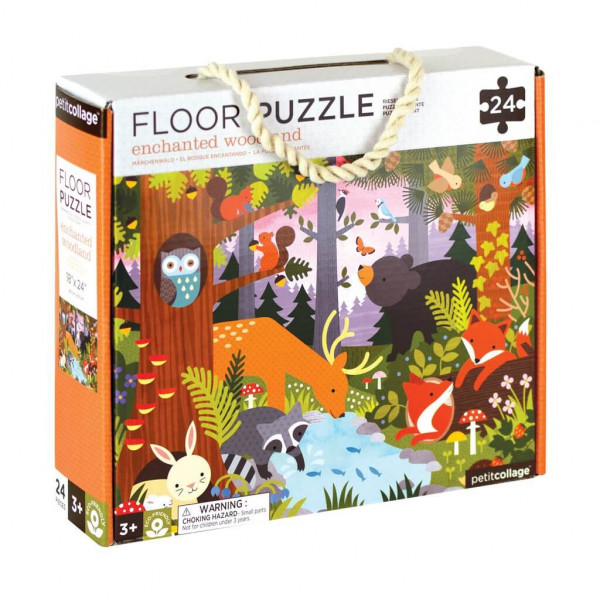 Enchanted woodland animals floor puzzle, 24 pcs