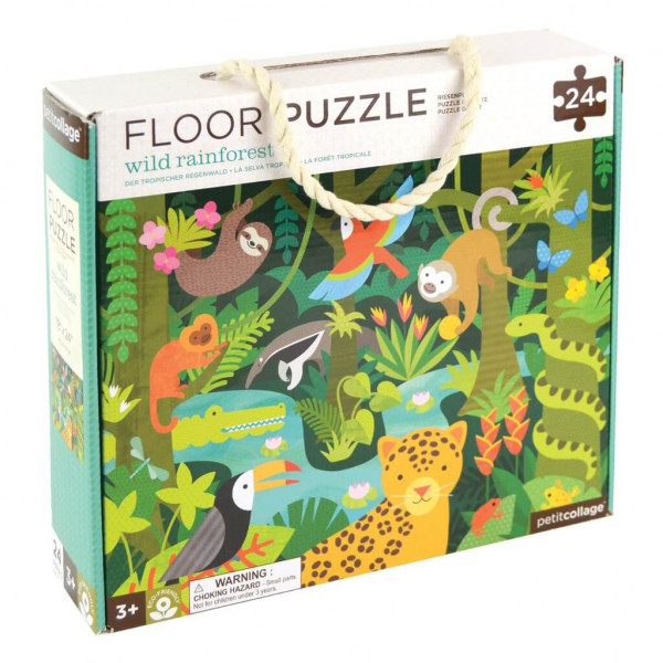 Wild rainforest floor puzzle, 24 pcs