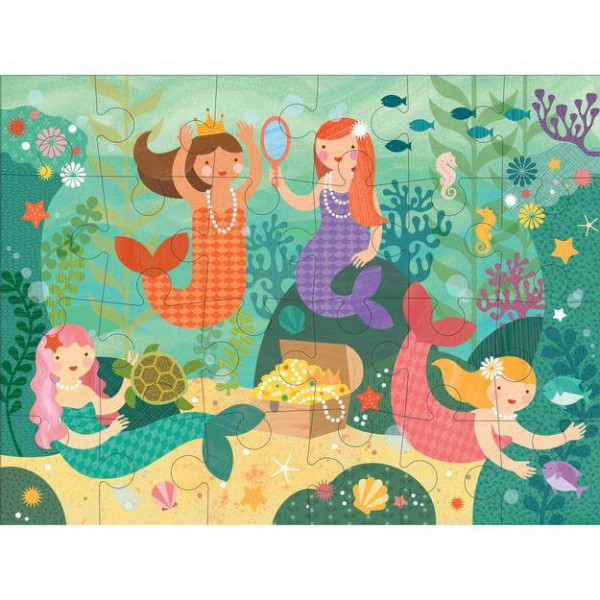 Mermaid floor puzzle, 24 pcs
