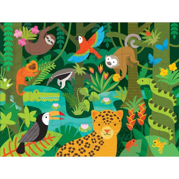 Wild rainforest floor puzzle, 24 pcs