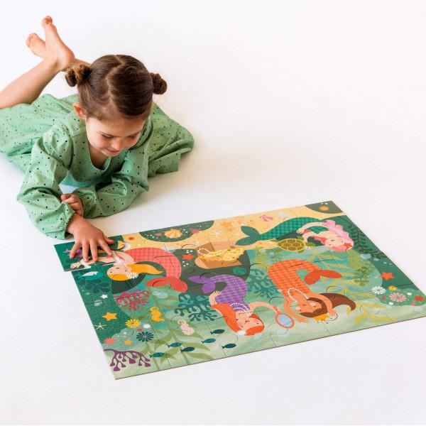 Mermaid floor puzzle, 24 pcs