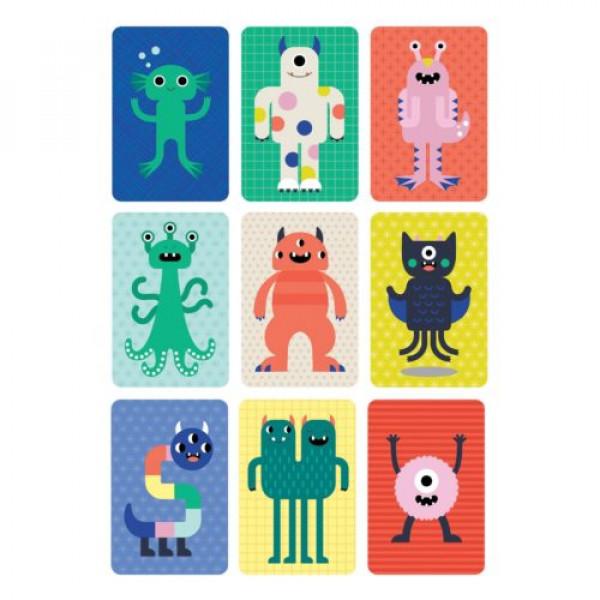 Petit Collage organic card game in metal box Monsters