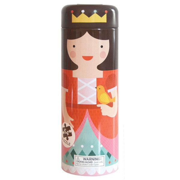 Tin canister Jigsaw floor puzzle, Royal Castle, 64 pcs
