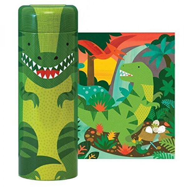 Tin canister Jigsaw floor puzzle, Dinosaurs, 64 pc...