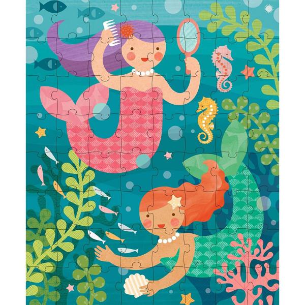 Tin canister Jigsaw floor puzzle, Mermaid, 64 pcs