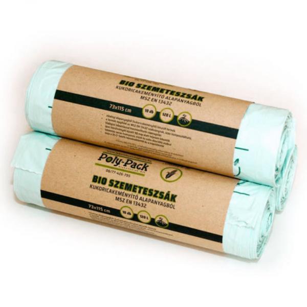 Eco bin liner, 135 l, 5 pcs, 1 roll