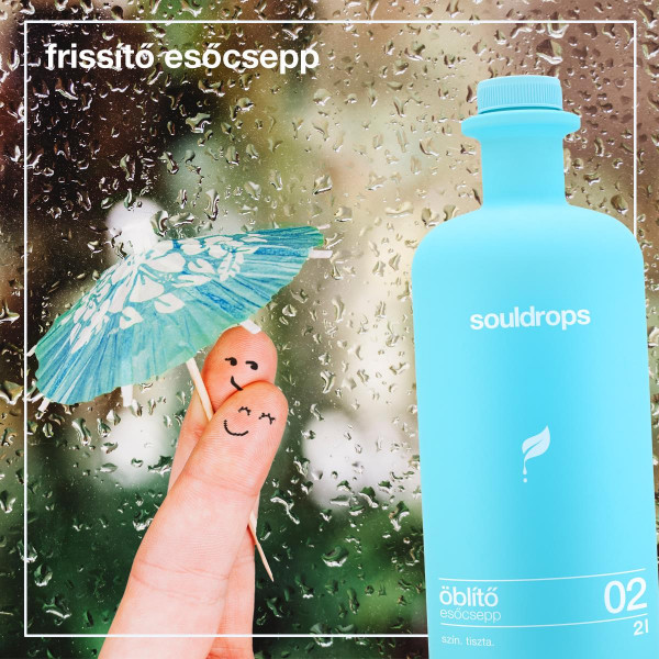 Ecofriendly fabric softener raindrop 2l