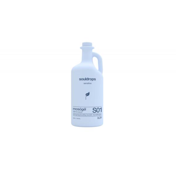Ecofriendly laundry detergent sensitive clouddrop 3,2l