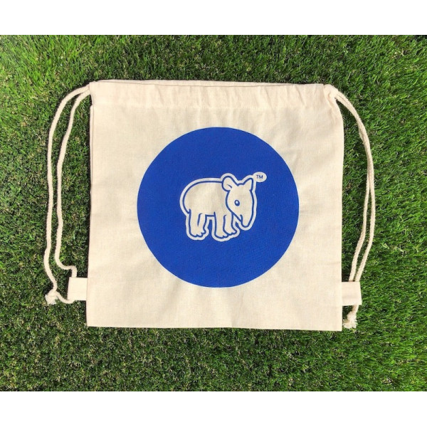 Tapirus drawstring bag for kids BLUE