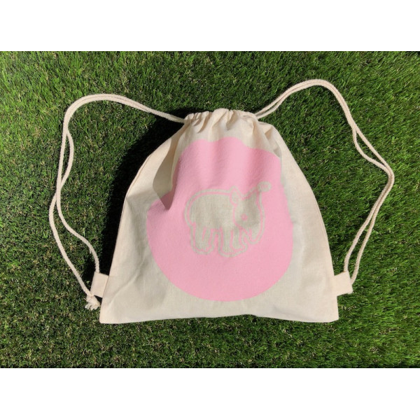 Tapirus drawstring bag for kids PINK