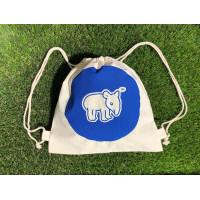 Tapirus drawstring bag for kids BLUE