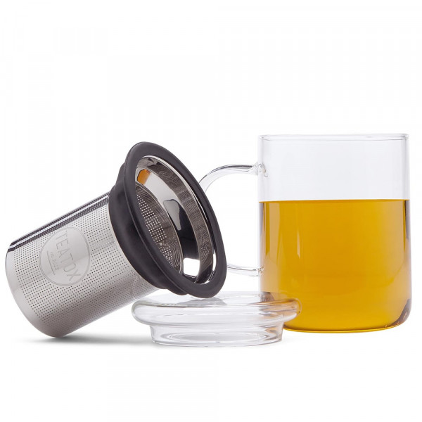 Glass tea mug, 350 ml