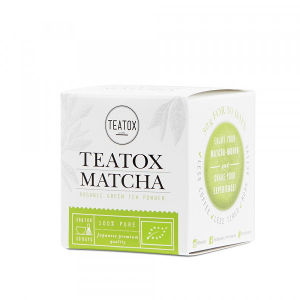 Matcha zöld tea fém dobozban, 30 gr