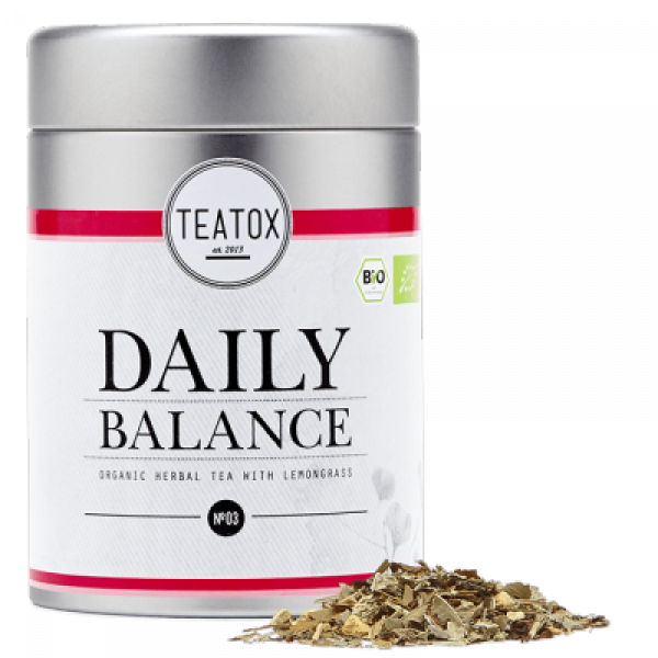 Daily balance organic herbal tea tin can 50g