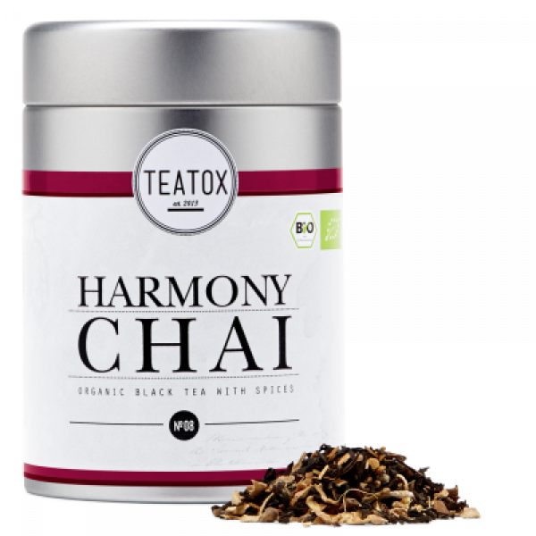 HARMONY CHAI GINGER BLACK TEA- 90G metal box