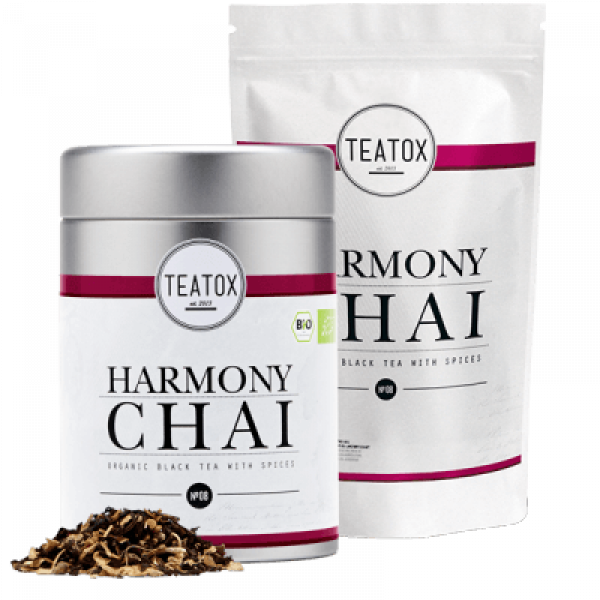 Harmony chai ginger black tea mix, tin can, 90 g