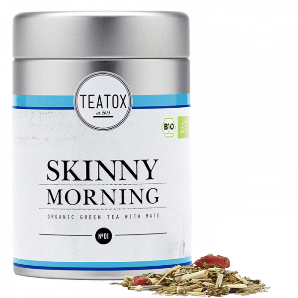 Skinny morning green tea with goji berries, tin, 6...
