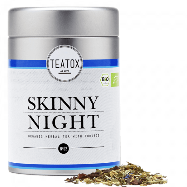 Skinny Night organic herbal tea, tin can, 50 g