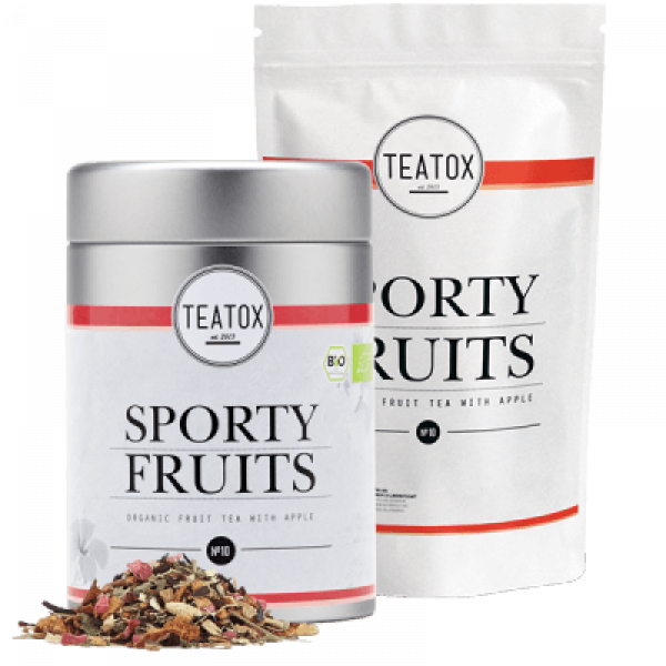 Sporty fruits organic fruit Tea with apple, refill...
