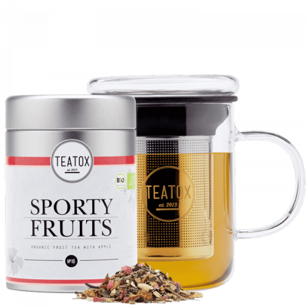 Sporty fruits organic fruit tea with Apple, tin can, 90 g