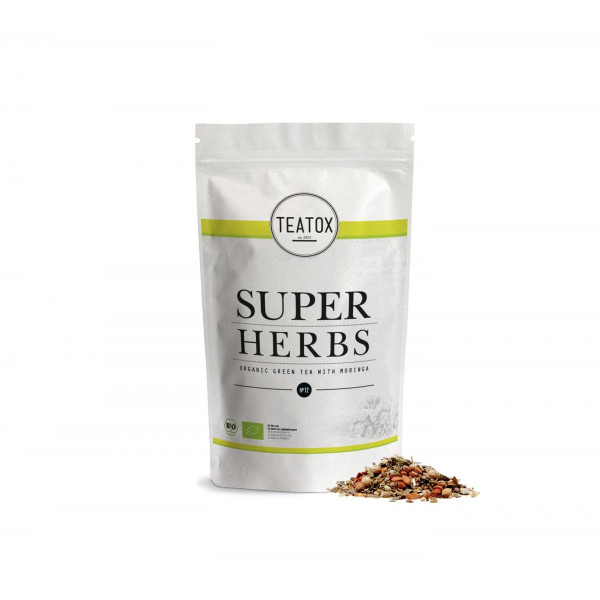 SUPER HERBS ORGANIC HERBAL TEA WITH MORINGA refill 50g