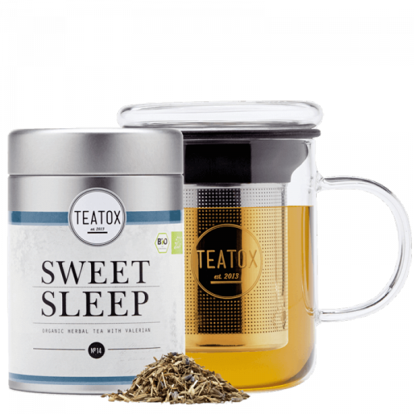 Sweet sleep organic herbal tea with valerian, tin can, 60 g
