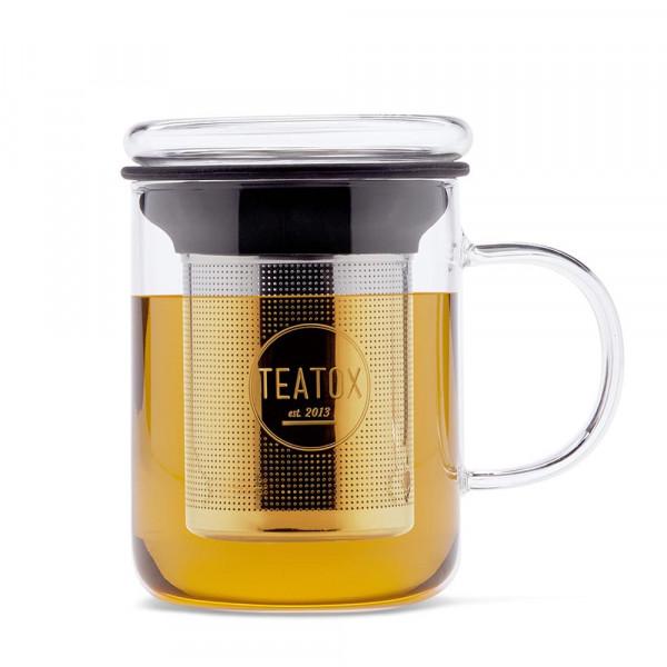 Üveg bögre, rozsdamentes teaszűrővel 350ML