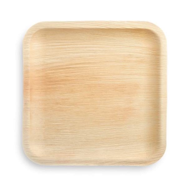 compostable palm leaves plates square 25 pcs