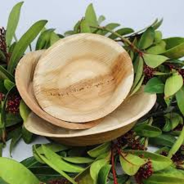 compostable palm leaves plates 25 pcs