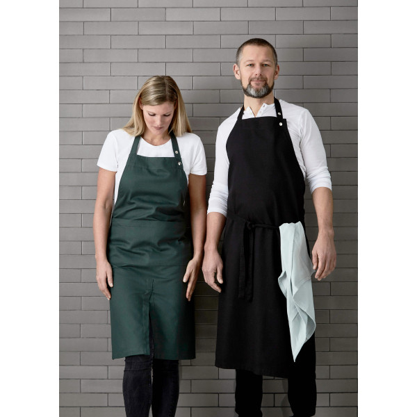 Apron with pocket, dark green
