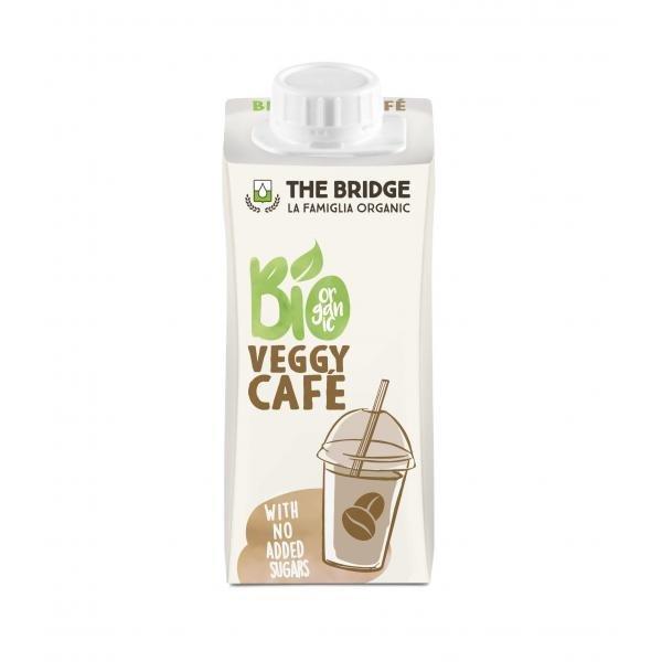 The Bridge BIO Mandulás és kávés rizsital (gluténmentes) Ultramagas hőmérsékleten hőkezelt (UHT) 200ml VEGGIE CAFÉ