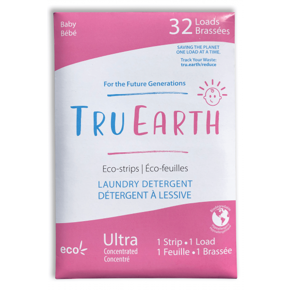 Tru Earth Eco-strips Laundry Detergent (Baby) - 32...