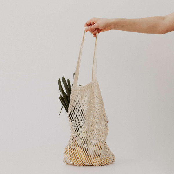 String bag with shoulderstraps