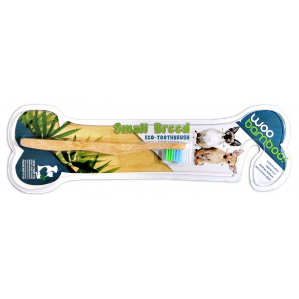 Woobamboo bamboo toothbrush for small breeds (litt...