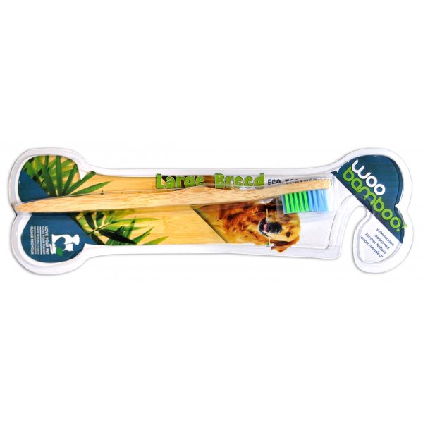 Woobamboo bamboo toothbrush for large breed (large dog)