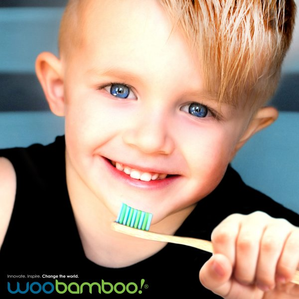 Woobamboo bamboo toothbrush children, 2 pcs