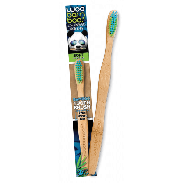 Woobamboo bamboo toothbrush adult soft in paper box 1 pc