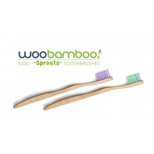 Woobamboo bamboo toothbrush kid supersoft in paper...