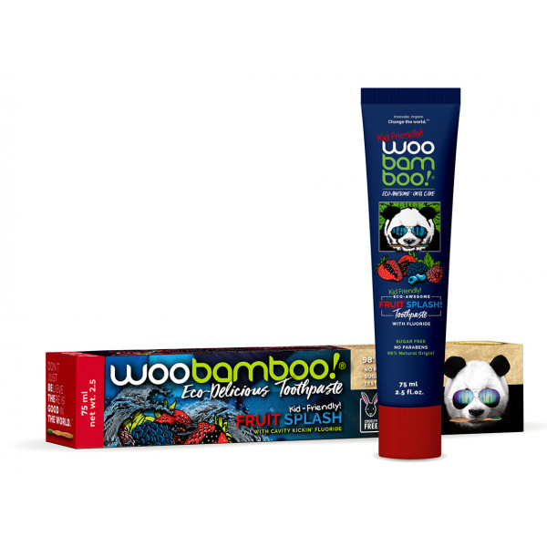 Woobamboo fruit splash natural toothpaste