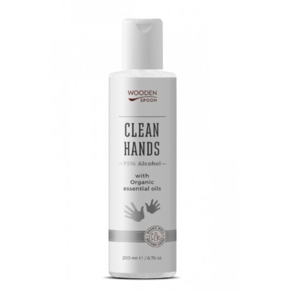 Clean Hands liquid with Alcohol and Organic essential oils