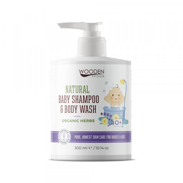 Baby shampoo and body wash with organic herbs 300ml