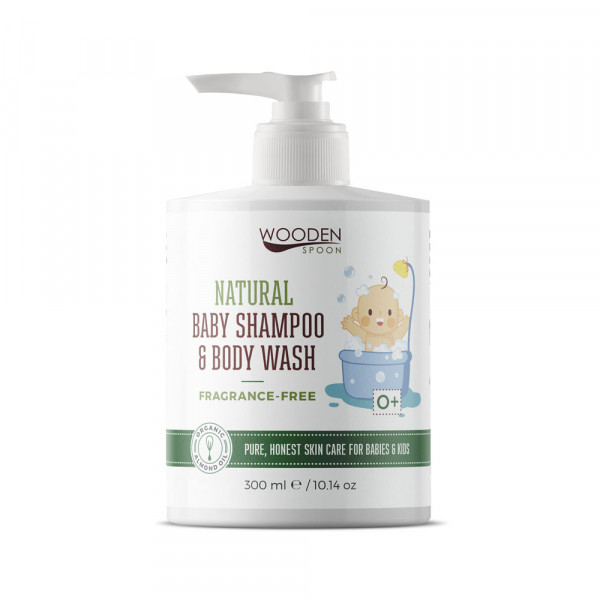 Fragrance free baby shampoo and body wash 300ml