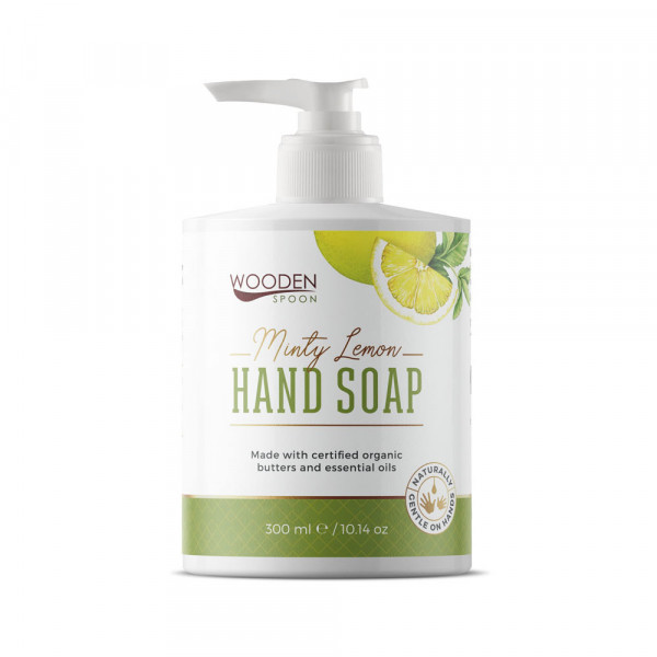 Natural hand soap minty lemon 300ml