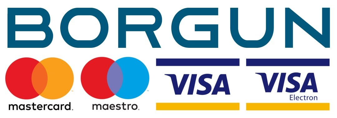 BORGUN Visa, MasterCard, Visa Elektron, Maestro